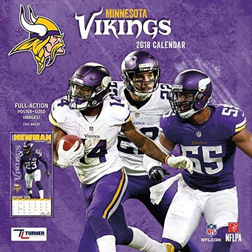 46bdbcda6 Minnesota Vikings 2018 Calendar  Full-Action Poster-Sized Images! Calendar  – Wall Calendar