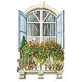 Wallies 15207 Paris Window Wallpaper Mural, 2-Sheet