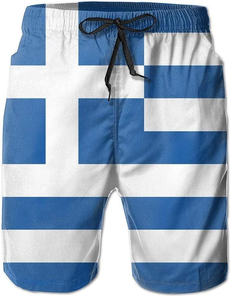 Pantalón de Playa de Verano para Hombre Bandera de Grecia Pantalones Cortos de Tabla de Surf Pantalones Cortos: Amazon.es: Ropa y accesorios