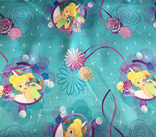 """100% Cotton Fabric Quilt Prints - Tinkerbell Petal Perfect / 45"""" Wide/Sold by The Yard SC-271"""
