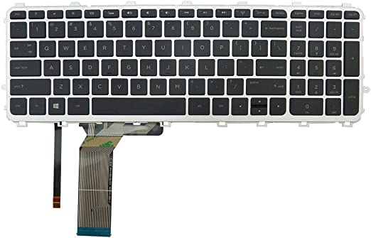 Laptop Keyboard For HP Envy 17t-j000 17t-j100 CTO 17-j099NR W// Frame Backlit