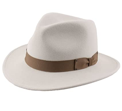 594b63755fe56 Bailey of Hollywood Curtis Wool Felt Fedora Hat Packable at Amazon Men s  Clothing store