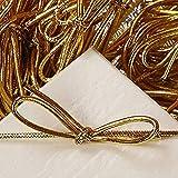 6 Inch Metallic Gold Stretch Loops