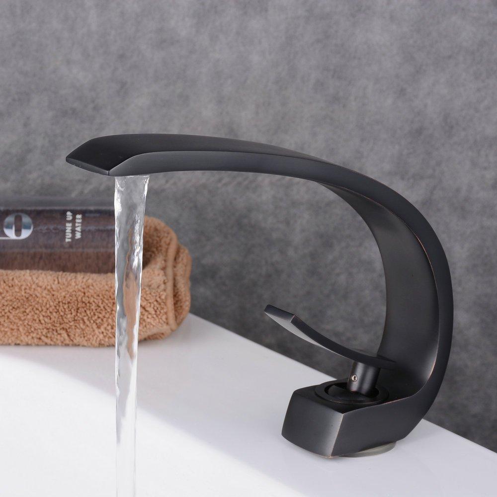 Beelee BL9006B Geb/ürstete Bronze Schwarz Bad Waschbecken Wasserhahn Waschtisch armatur Einhebelmischer Badarmatur Mischbatterie Waschbeckenarmatur f.Badzimmer