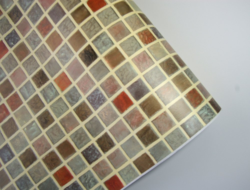 Amazon Multi Color Tile Mosaic Pattern Contact Paper Self Adhesive Peel Stick Vinyl Wallpaper Bathroom Waterproof Kitchen Home