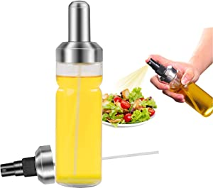 Herda Oil Sprayer for Cooking,180ml Olive Oil Mister Refillable Oil Spray Bottle,Wide Opening 5.7mm Glass Oil Spritzer, Vinegar Spritzer Kitchen Cooking Spray for Air Fryer BBQ Salad Roasting Grilling