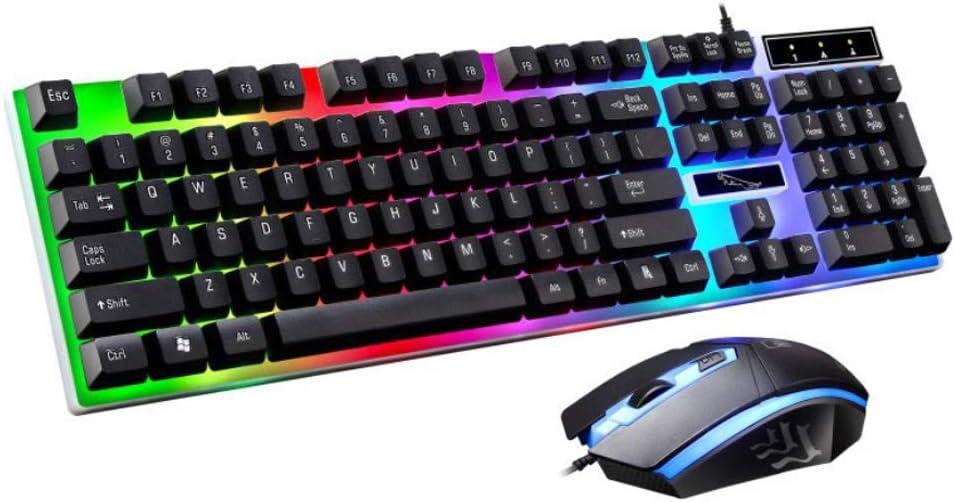 Rainbow - Kit de Teclado y ratón con luz LED para PS4, Xbox One ...