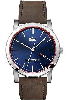 463dcebe85 Lacoste Homme Analogique Quartz Montres bracelet avec bracelet en Cuir -  2010848