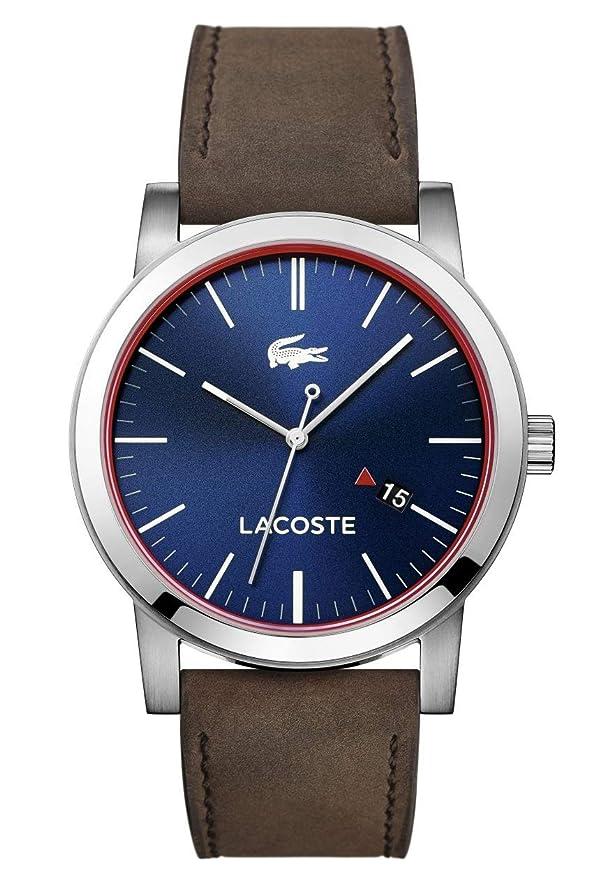 Reloj Lacoste con correa de piel marrón