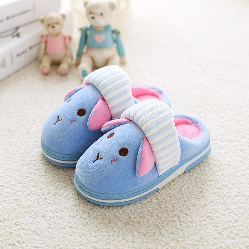 18 Months-10 Years KASSD Children Slippers Baby Winter Warm Cartoon Animal Cotton Home Shoes