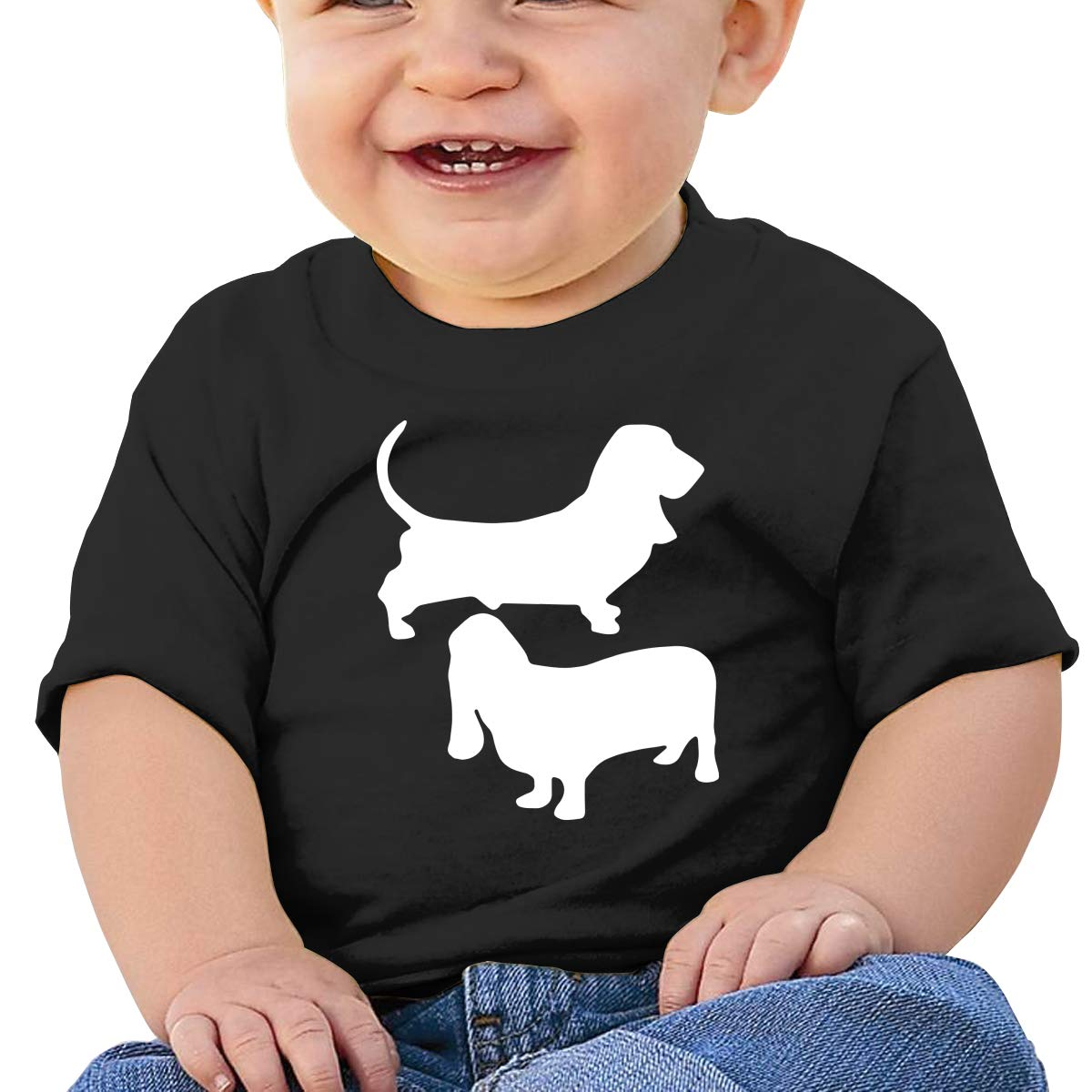 Basset Hound Baby Boy Newborn Short Sleeve T-Shirt 6-24 Month Soft Tops