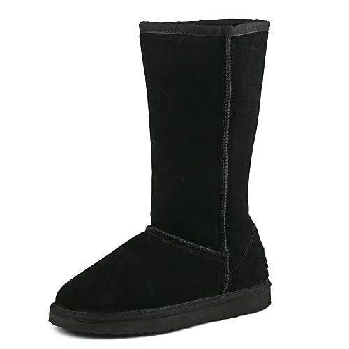7f34567cf5b AUSLAND Women's Classic Leather Tall Snow Boot