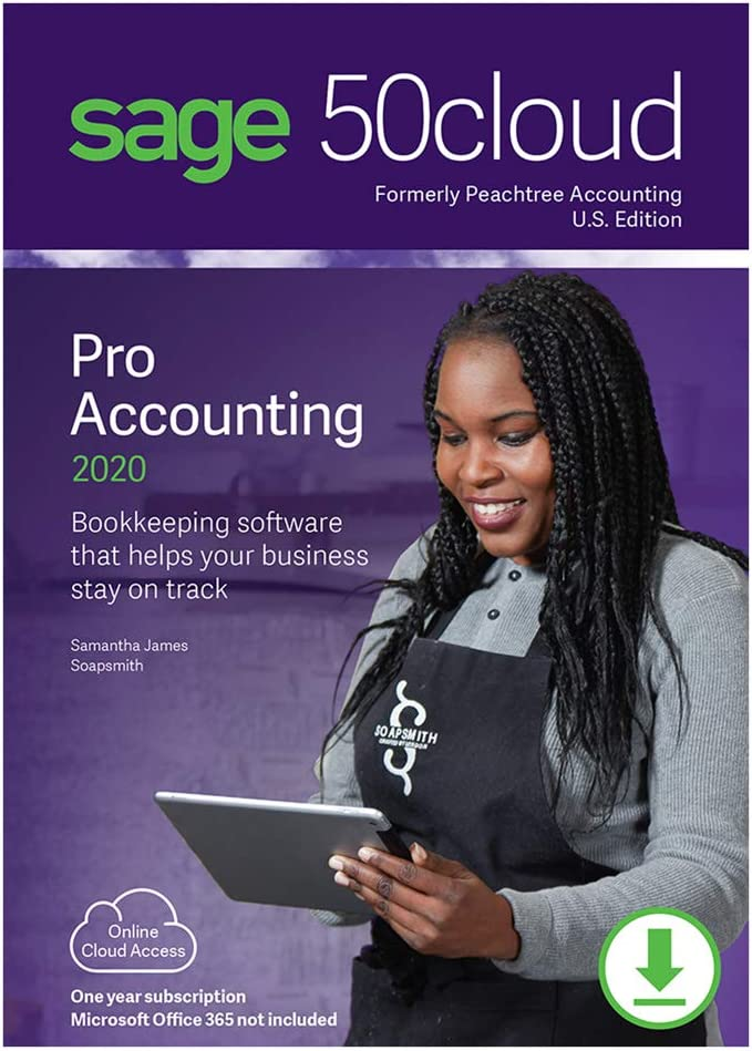 Sage 50cloud Pro Accounting 2020 U.S. One Year Subscription [PC Download]