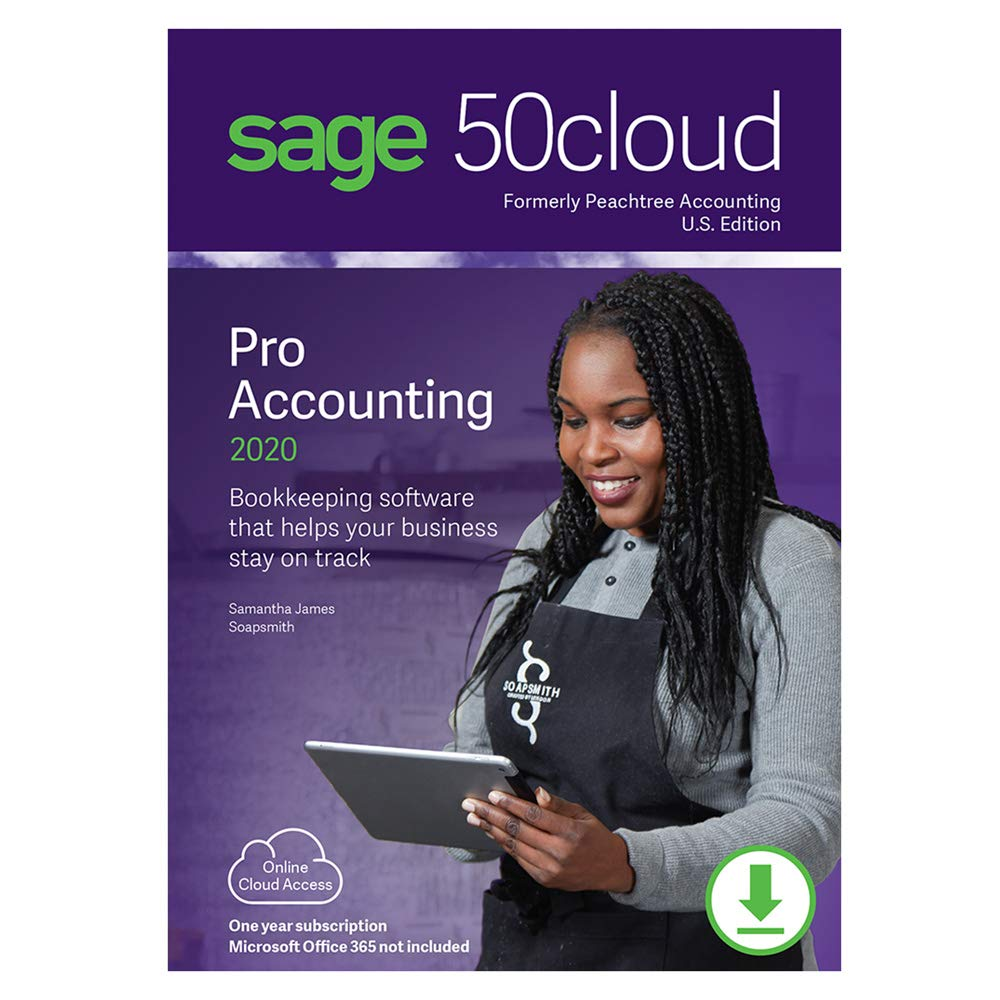 Sage 50cloud Pro Accounting 2020 U.S. One Year Subscription [PC Download] by Sage Software