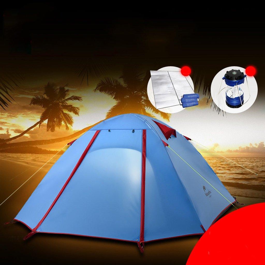 Camping Personen Zelt 3-4 Personen Camping Doppelzelt Ultra Light Aluminium Pole Zelt a4cb48