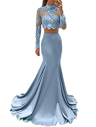 Amazon.com: Sweet Bridal Women\'s Long Sleeve Dress for Graduation ...