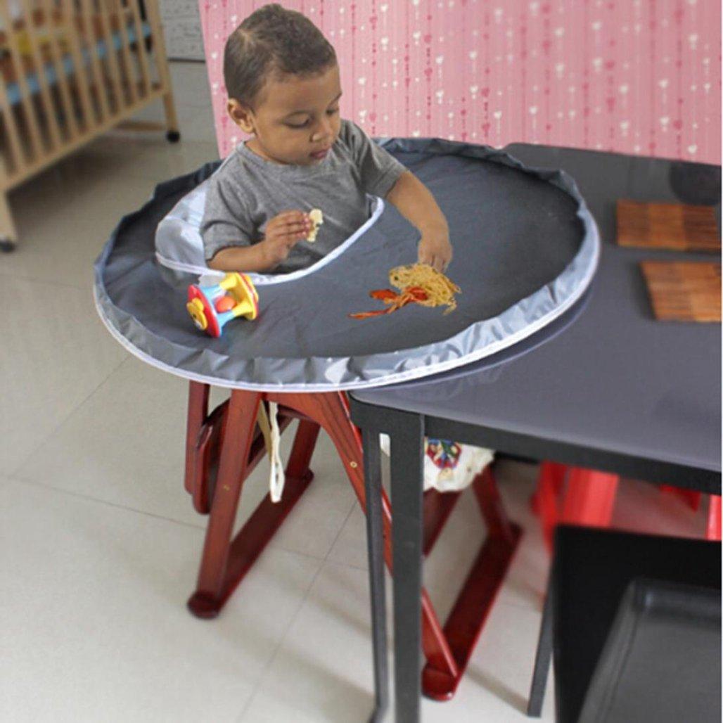 Grau 25 cm Wawer Neue Baby Dinner Mat Abdeckung Wasserdichte Hochstuhl Tischset 75