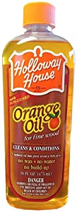 Holloway House Pure Orange Oil For Fine Wood, 16 Ounce Bottle