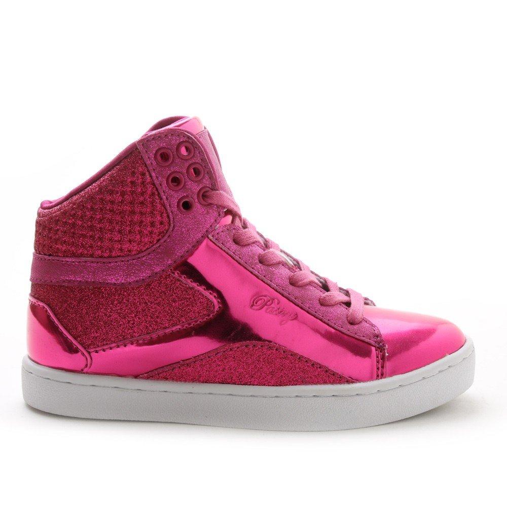 Pastry Pop Tart Glitter High-Top Sneaker & Dance Shoe for Kids B012BU4FWA Size 2 Fuchsia