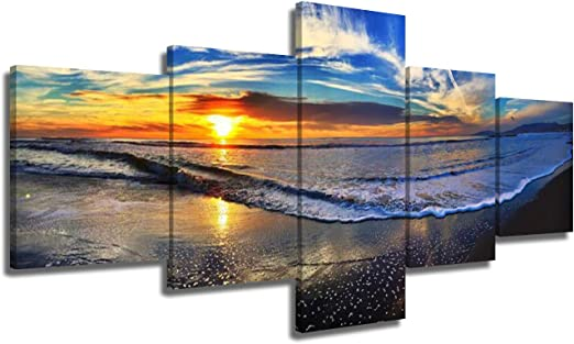 4pcs Large 30cm Canvas Home Decor Wall Art Painting Picture Sunset Scenery