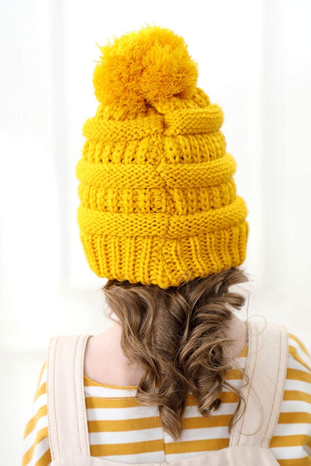 XINSHI Soft Warm Knitted Baby Hats Caps Cute Cozy Chunky Winter Infant Toddler Baby Beanies for Boys Girls