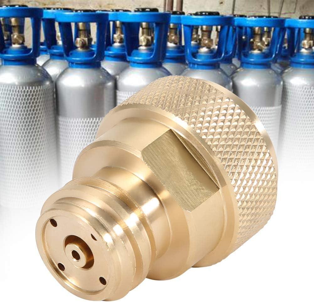 Adaptateur CO2 en laiton Remplacez la conversion de r/éservoir de r/éservoir for Sodastream Conversion de r/éservoir de r/éservoir Couleur : Argent
