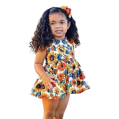 49ab6eb1cc 0-4 Years Old,Yamally_9R Little Kids Baby Girls Flower Dress Floral  Sundress Mini Beachdresses