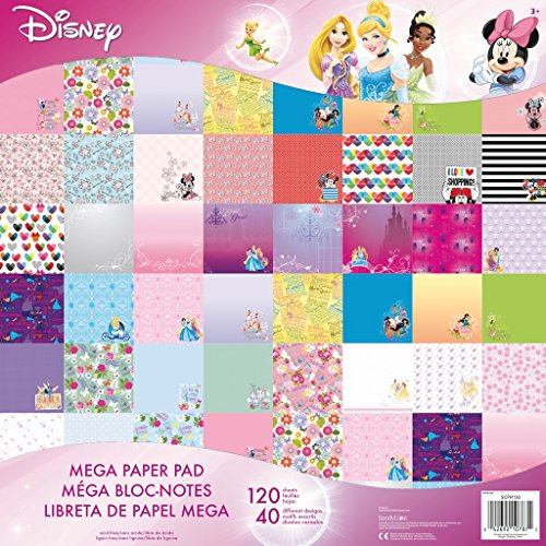 Disney Mega Paper Pad for Scrapbooking 120 Sheets