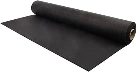 Exercise Mats Treadmill Light Duty Home Gym Flooring Brown, 4ft x 15ft IncStores 5mm Rubber Flooring Gym Mats 4ft x 15ft Equipment Mats Elliptical