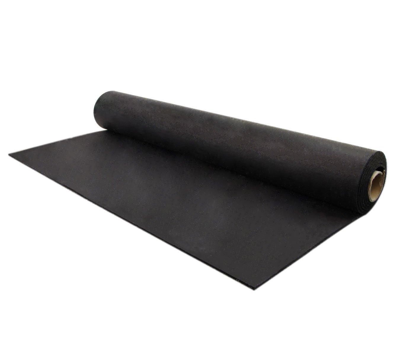 Treadmill Elliptical IncStores 5mm Rubber Flooring Gym Mats 4ft x 15ft Equipment Mats Light Duty Home Gym Flooring Exercise Mats Brown//Tan, 4ft x 15ft