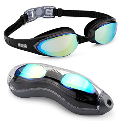 287b3d0bef5066 Aegend Swim Goggles, Streamlined Design Swimming Goggles No Leaking Anti  Fog Premium UV Protection 180