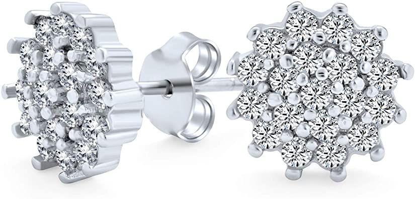 925 Sterling Silver Diamond Earring Pave Diamond  Earring mother/'s day gift Free Shipping Gift Jewelry