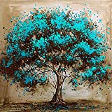 DIY 5D Diamond Painting by Number Kit for Adult Kids, Full Drill Tree Oil Diamond Embroidery Dotz Kit for Home Wall Decor Painting Arts Craft