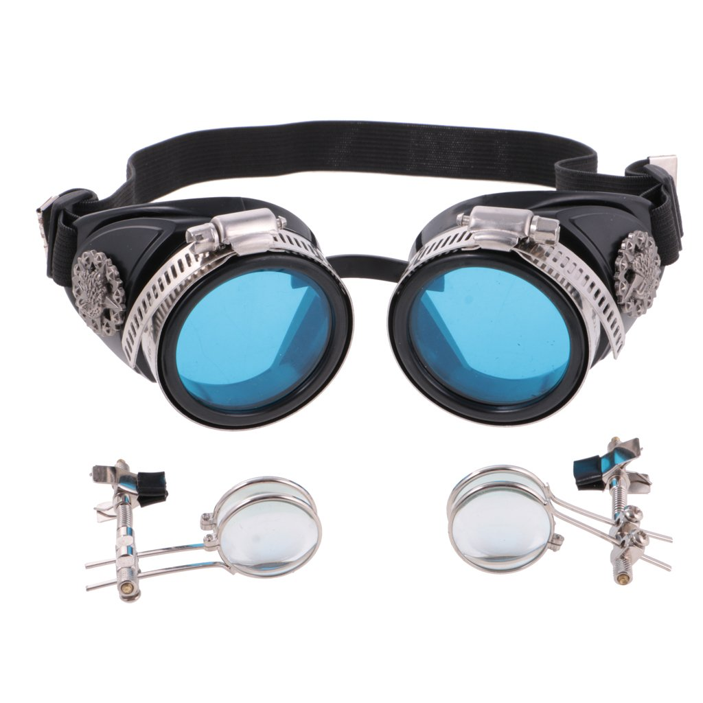 MagiDeal Retro Vintage Victorian Steampunk Goggles Glasses Welding Cyber Punk Gothic Cosplay Eye Protection Equipment for Cosplay Dance by MagiDeal (Image #6)