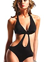 Ya Lida Temptation V word buckle sexy black Ms. piece swimsuit