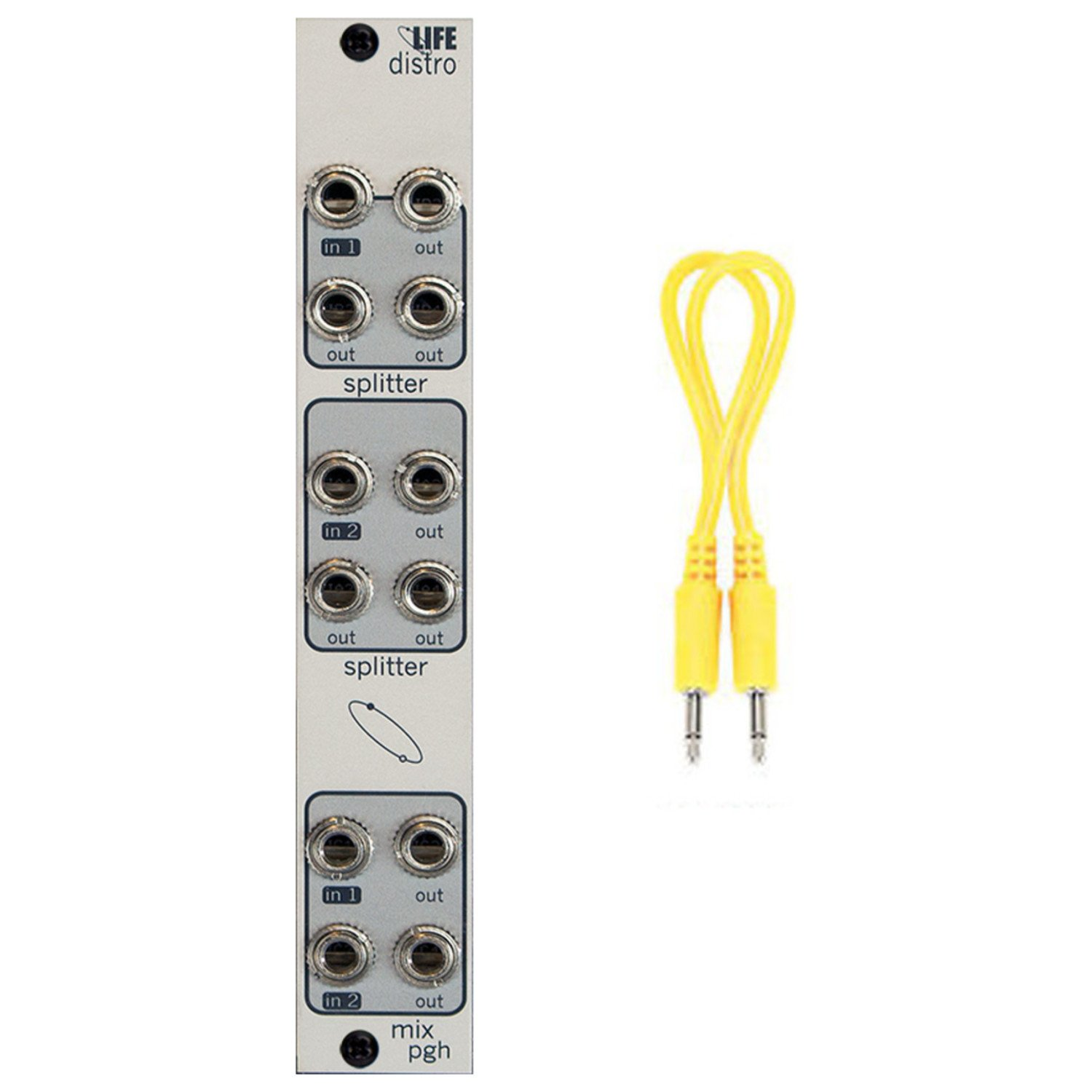 Pittsburgh Modular Lifeforms Distro Active Audio and CV Interchange Module w/ Cable by Pittsburgh Modular