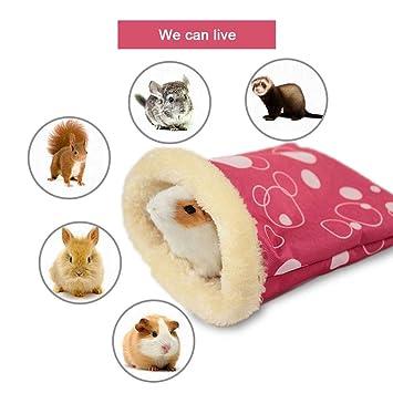 KOBWA Hamster - Hamaca de Invierno cálida, Juguetes para Mascotas, Accesorios para casa, Cama, Saco de Dormir, Hamaca con diseño de Oso: Amazon.es: ...