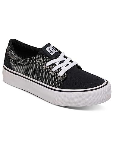 Dc Shoes Trase Tx Zapatillas De Caña Baja, Color: White, Size: 4.5 US