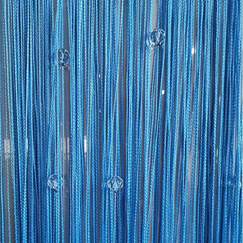Duosuny Decorative Door String Curtain Beads Wall Panel Fringe Window Divider Blind for Wedding Coffee House Restaurant Parts Crystal Tassel Screen Home Decoration