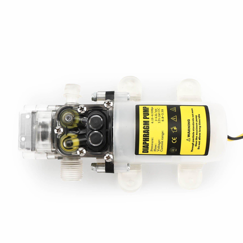 Self Priming Diaphragm Pump EnPoint Automatic Water High Pressure Diaphragm PUM 12V DC 60W 4.2L//Min 0.65Mpa 80PSI 50M Head Sprayer Pump for Caravan Lawn RV Marine Boat Plant-Watering Car Washing