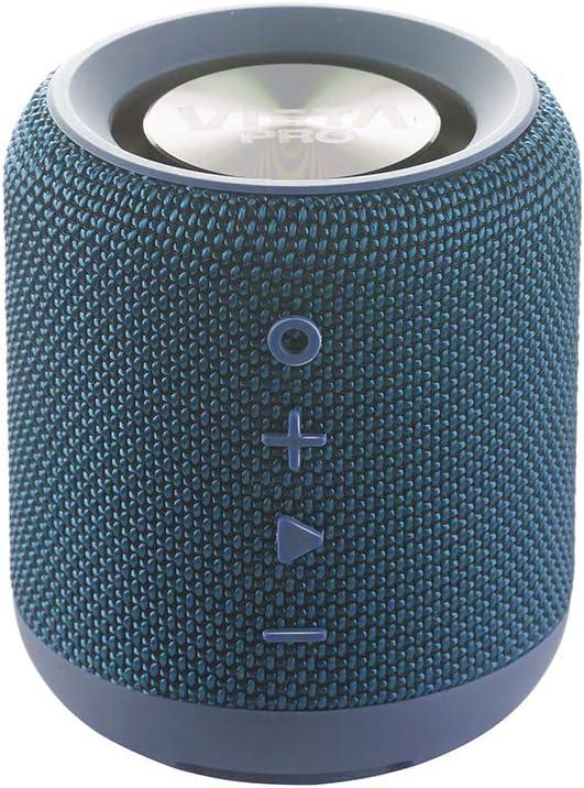 Vieta Pro Easy - Altavoz inalámbrico (True Wireless Bluetooth, Radio FM, Reproductor USB, auxiliar, micrófono integrado, resistencia al agua IPX6, batería de 12 horas) azul
