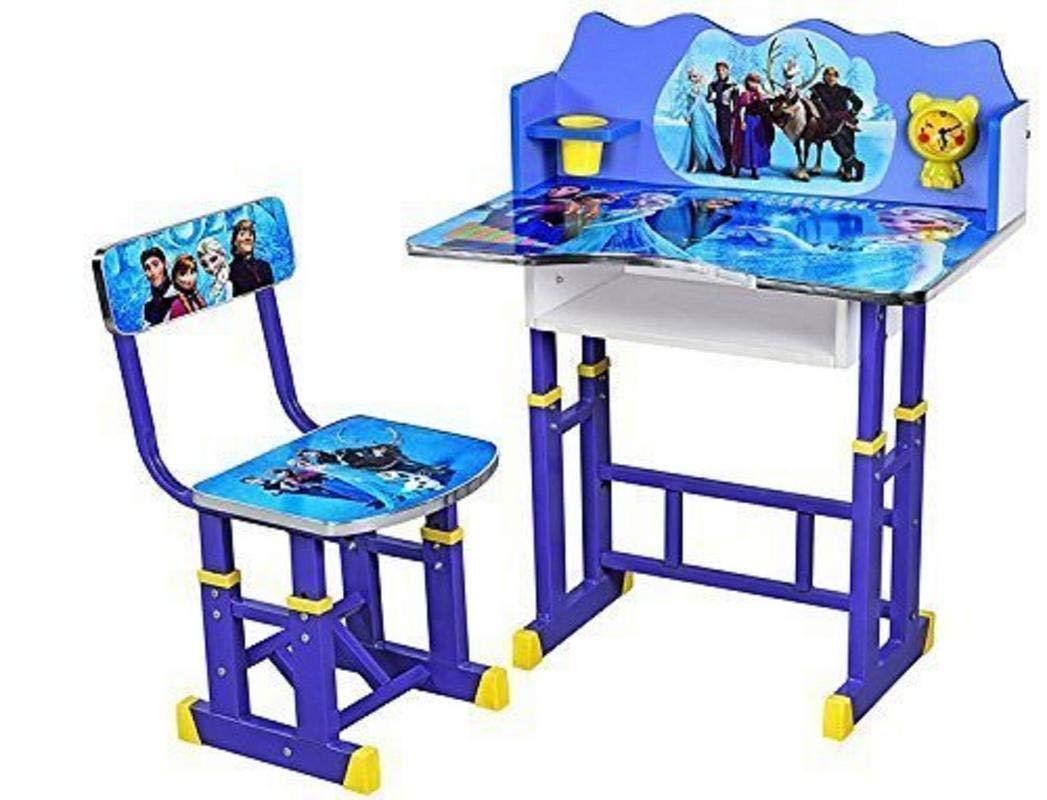 Stupendous Kajal Toys Kids 3D Design Frozen Character Baby Height Adjustable Desk Chair Blue Theyellowbook Wood Chair Design Ideas Theyellowbookinfo