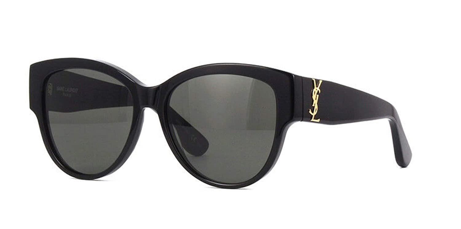 3ea4c5355bb Amazon.com: Saint Laurent Authentic YVES SAINT LAURENT Black YSL Sunglasses  SL M3-002NEW: Clothing