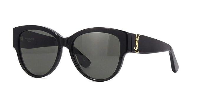 b57a5af6012f7 Amazon.com  Saint Laurent Authentic YVES SAINT LAURENT Black YSL Sunglasses  SL M3-002NEW  Clothing