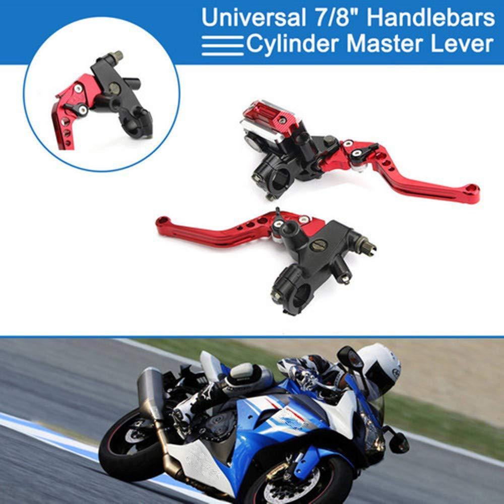 Silver Lisyline Universal Motorcycle 7//8 22mm Handlebar Brake Master Cylinder Clutch Lever Left /& Right Set for Harley Honda Kawasaki Suzuki Yamaha