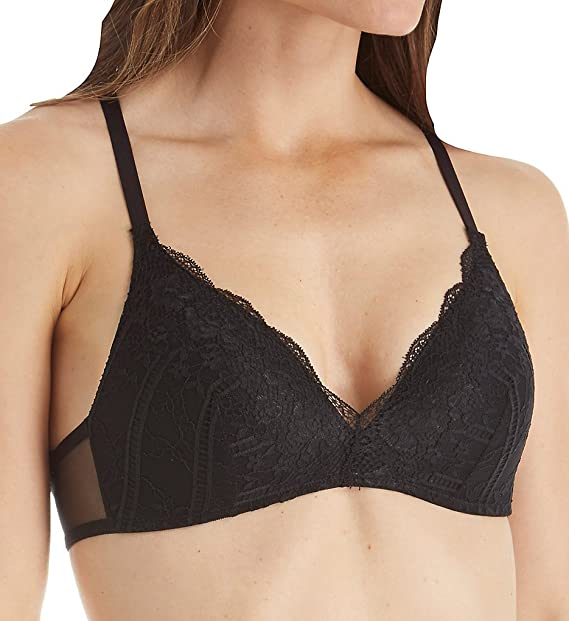 7c82ab8f98 Self Expressions Foam Cup High Lace Back Bra (SE1145) at Amazon Women s  Clothing store