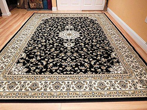 Amazon Com Black 8x11 Persian Rug Oriental Rugs 8x10 Area