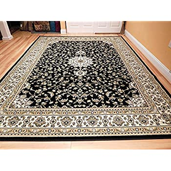 itm traditional rug oriental actual rugs area carpet large persian silver style