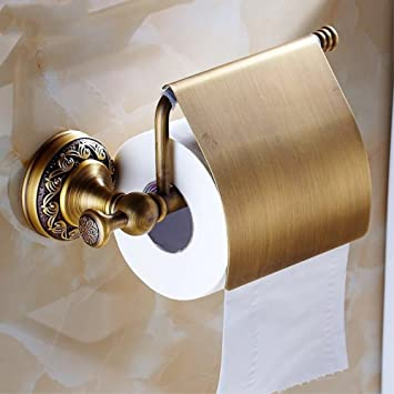 Amazoncom Yutu Nn01 Solid Brass Antique Bronze Toilet Paper Holder
