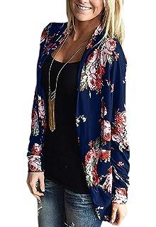 Femme Cardigan Kimono Manche Lmmvp Veste Longue Femmes À Fleurs 5ATnwRx